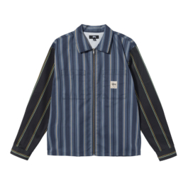 STUSSY MIX STRIPE ZIP UP WORK